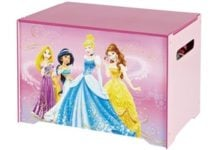 Coffre a jouets rose Disney Princess