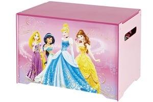 Coffre a jouets rose Disney Princess