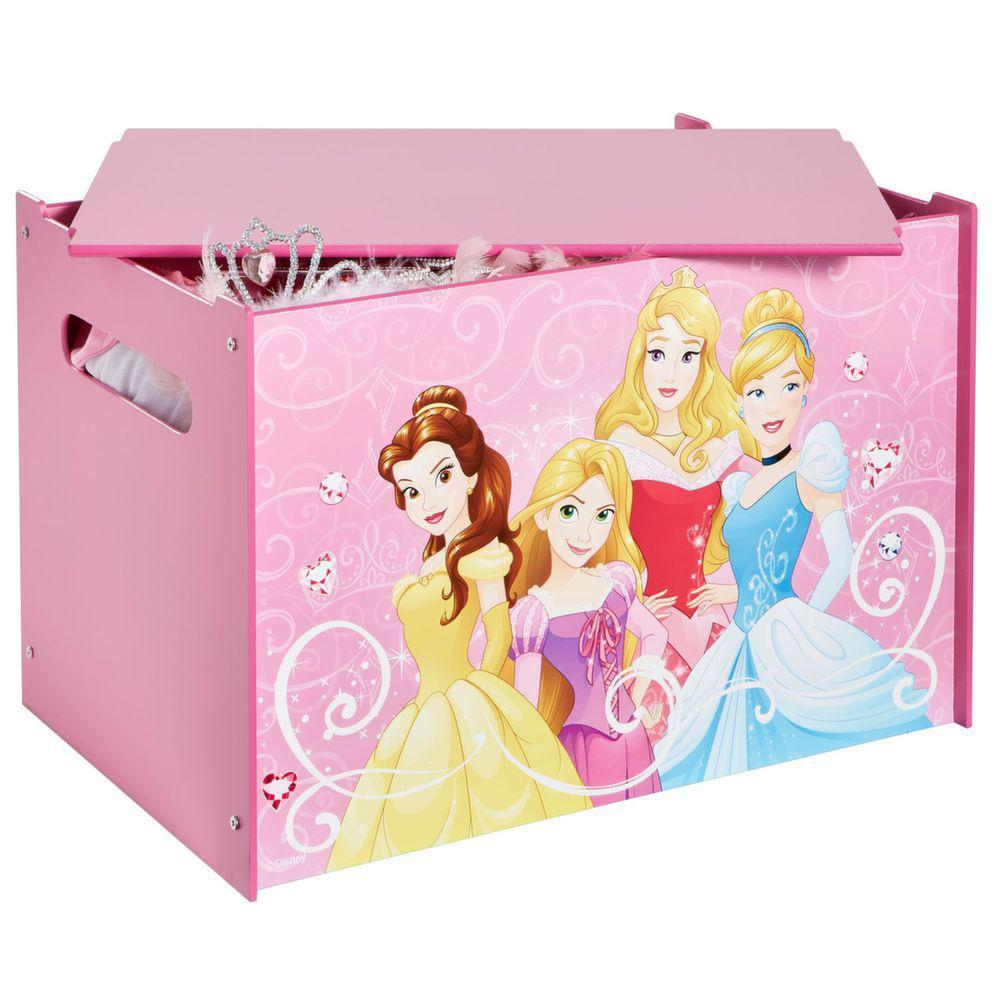Coffre a jouets rose Disney princesse