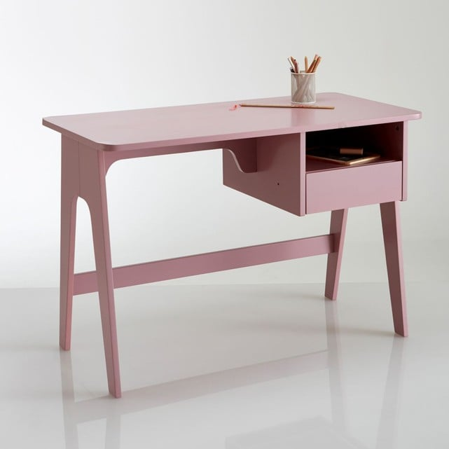 bureau rose id al pour jouer et travailler. Black Bedroom Furniture Sets. Home Design Ideas
