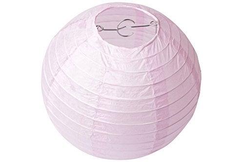 abat-jour rose en papier
