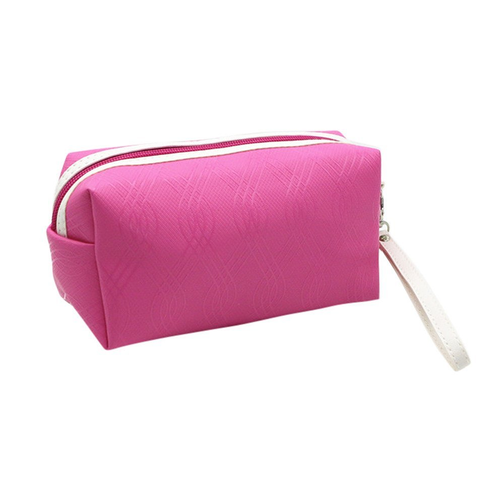 trousse de maquillage rose  Xjp Zipper Cosmetic