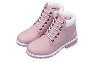 boots rose femme
