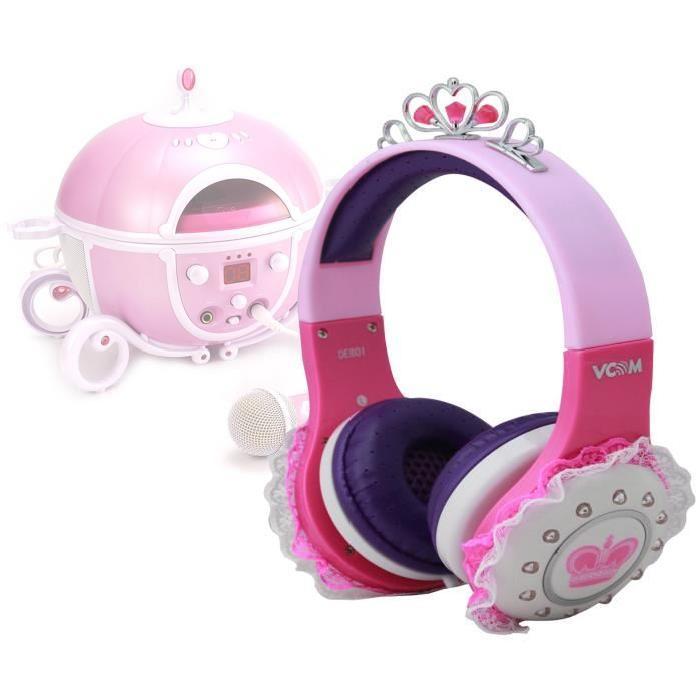 Lecteur Karaoke casque rose