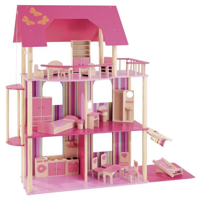 Maison de poupees rose Howa