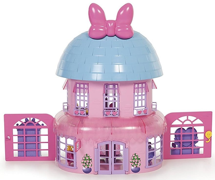 Maison de poupées rose avec ses accessoires - Cadeaux Rose
