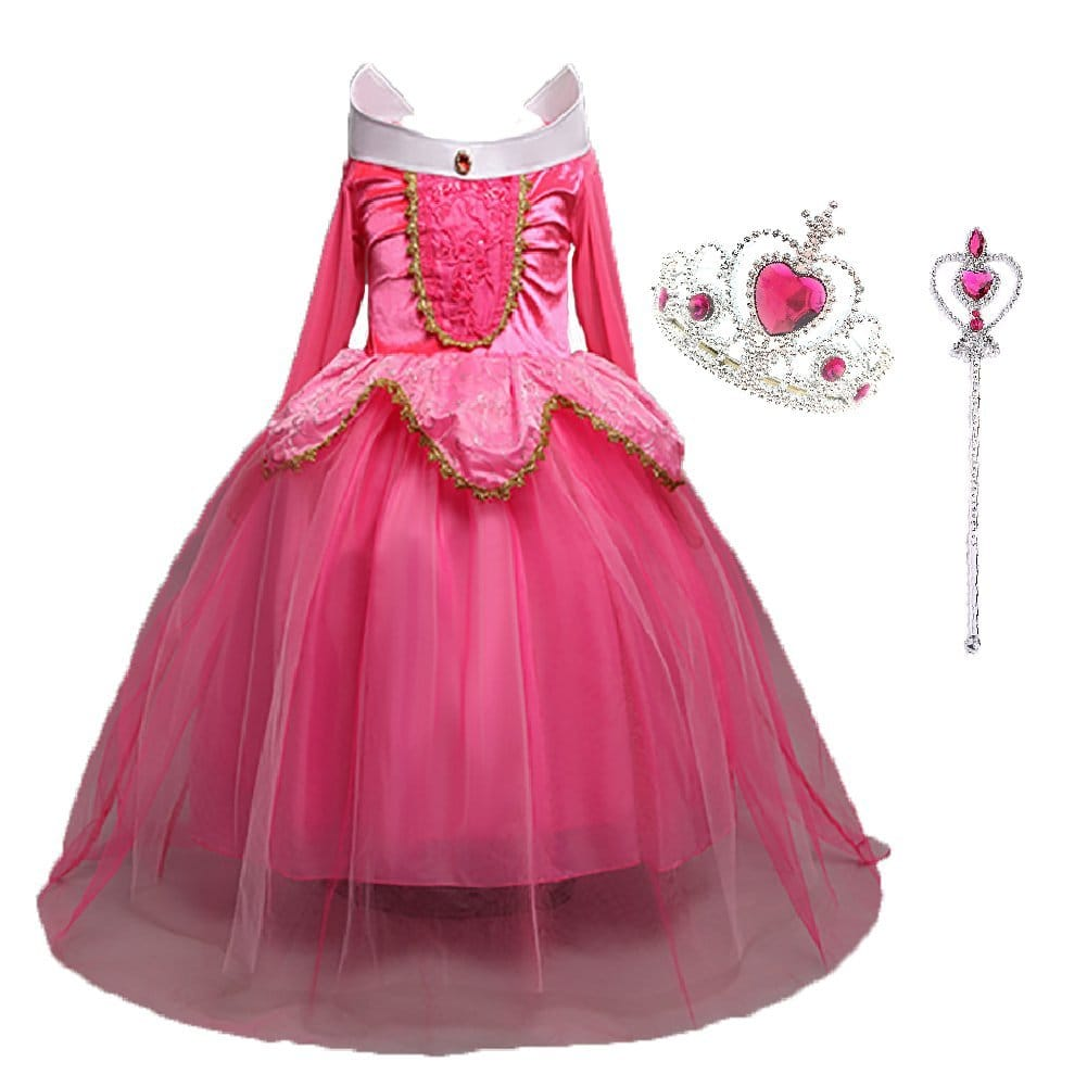 Robe de princesse rose deguisement cosplay