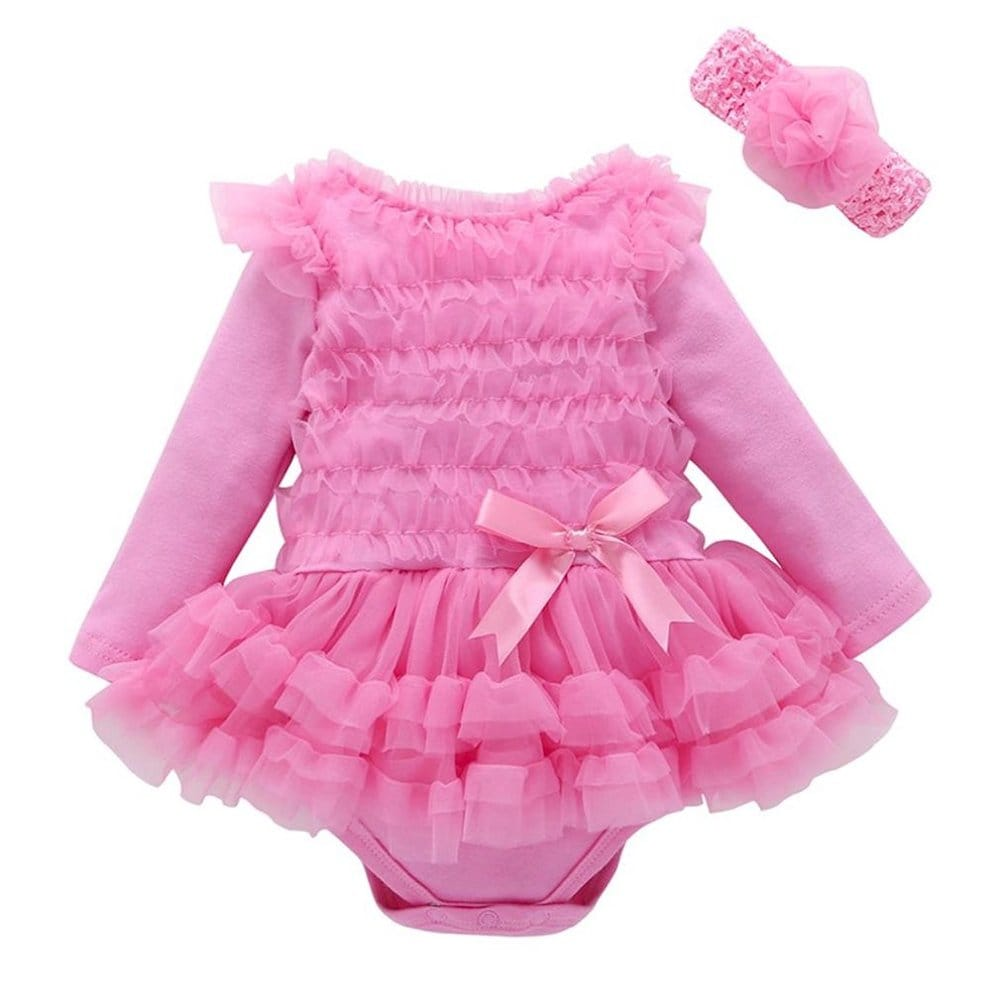 Robe de princesse rose enfant beve