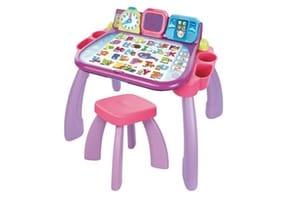 Table d'activités enfant couleur rose