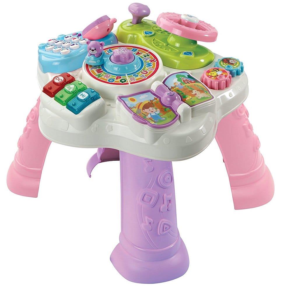 table d 39 activites enfant rose vtech cadeaux rose. Black Bedroom Furniture Sets. Home Design Ideas