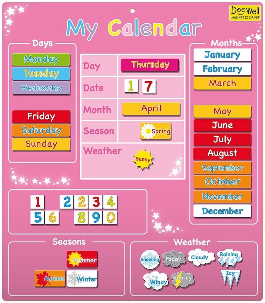 calendrier enfant my calendar