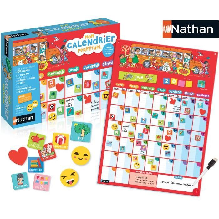 calendrier enfant perpetuel Nathan