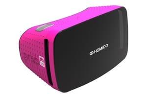 casque de realite virtuelle rose pour iphone et android