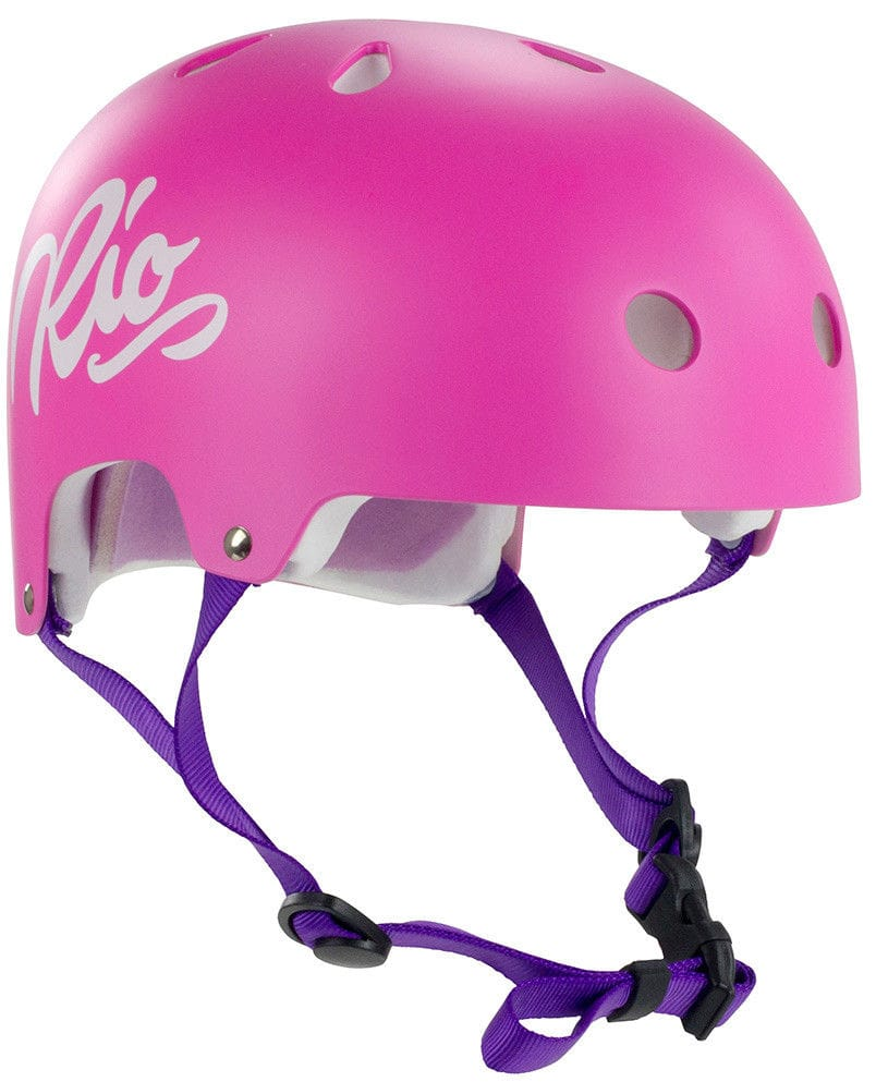 casque rose trottinette roller
