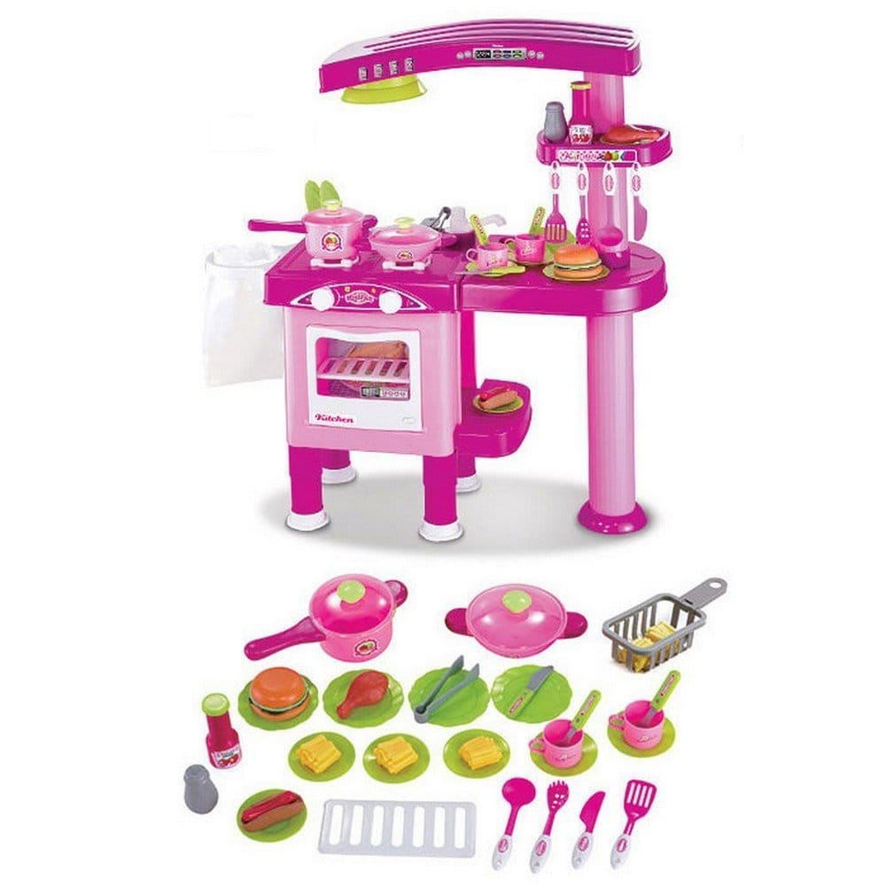 cuisine enfant rose complete