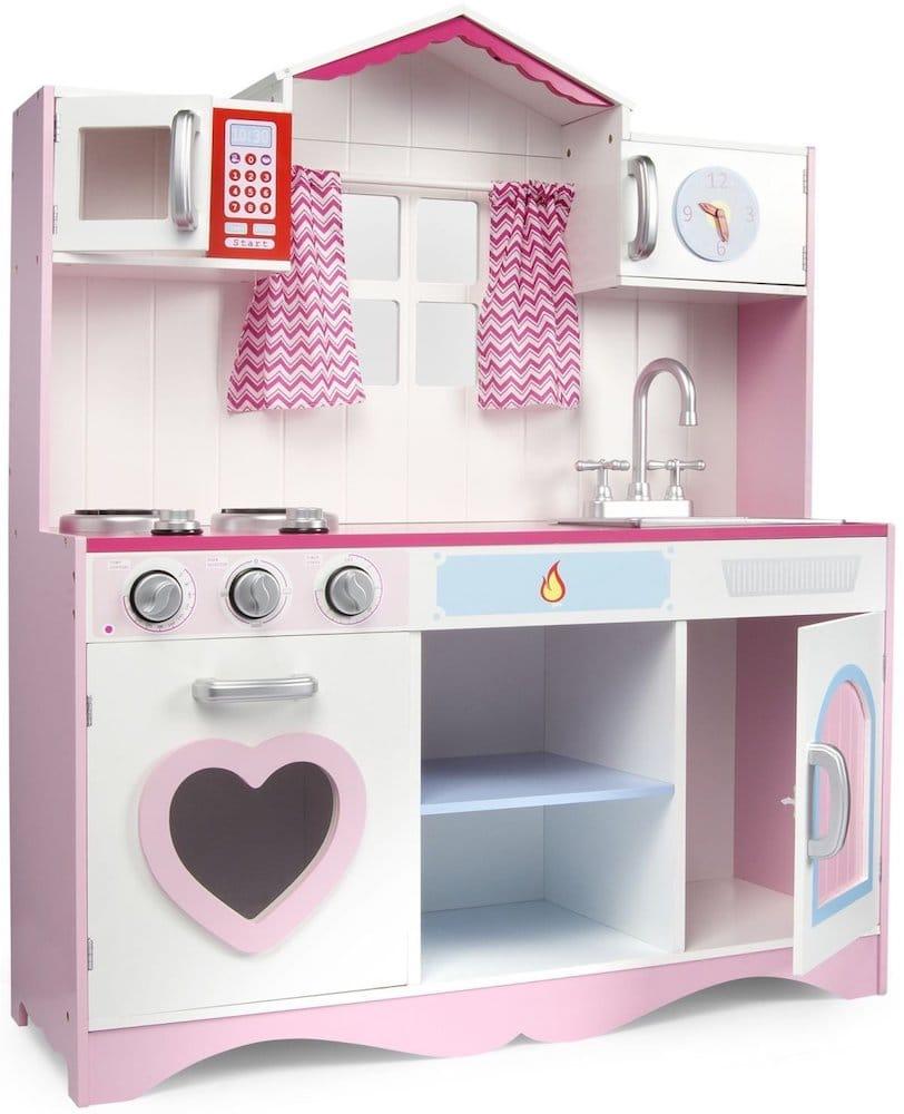 cuisine enfant rose en bois
