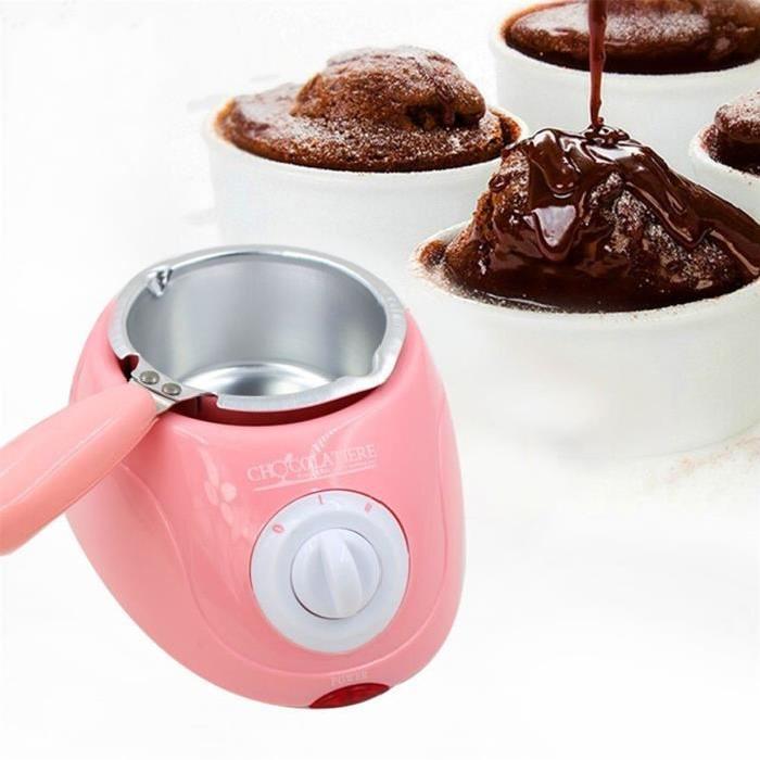 fondue a chocolat electrique rose