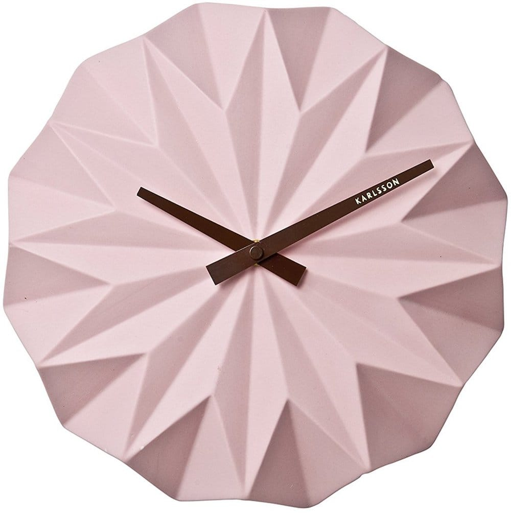 horloge murale rose chrome