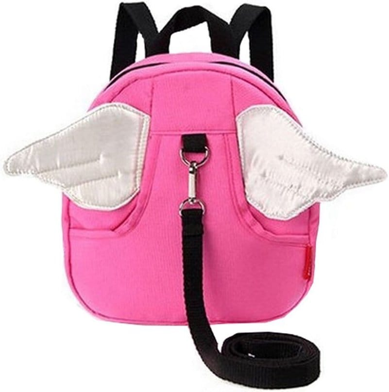 sac a dos enfant rose avec ailes