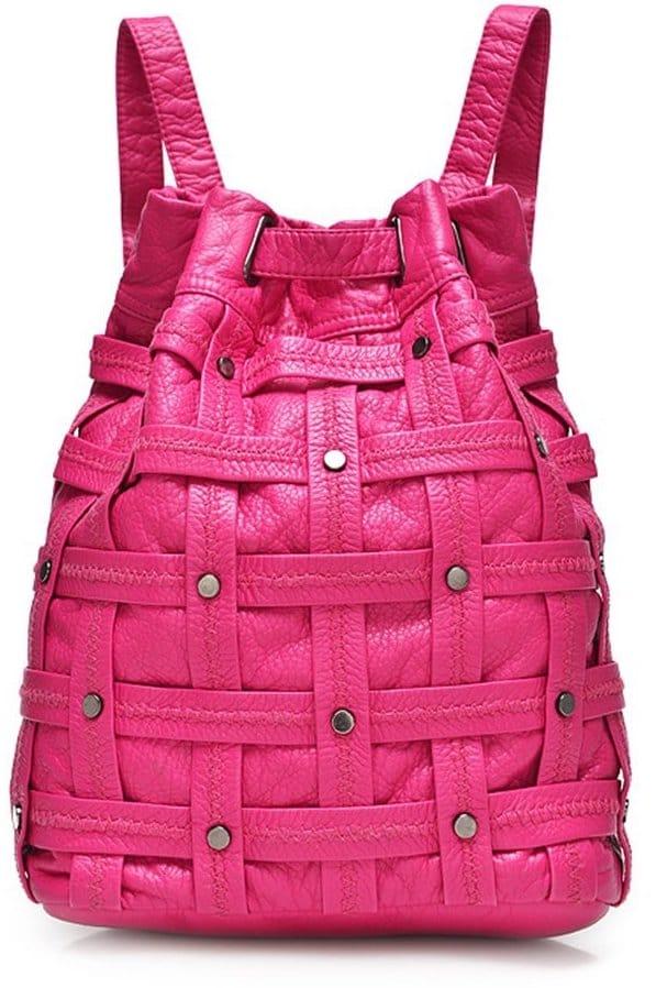 sac a dos enfant rose impermeable