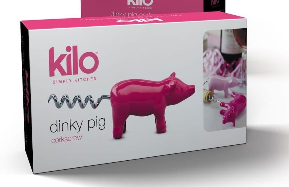 tire-bouchon rose forme de cochon