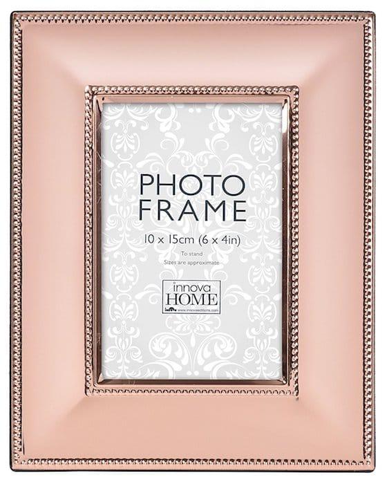 cadre photo rose