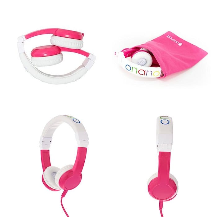 casque audio rose enfant