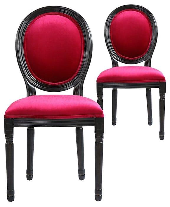 chaises rose Louis XVI