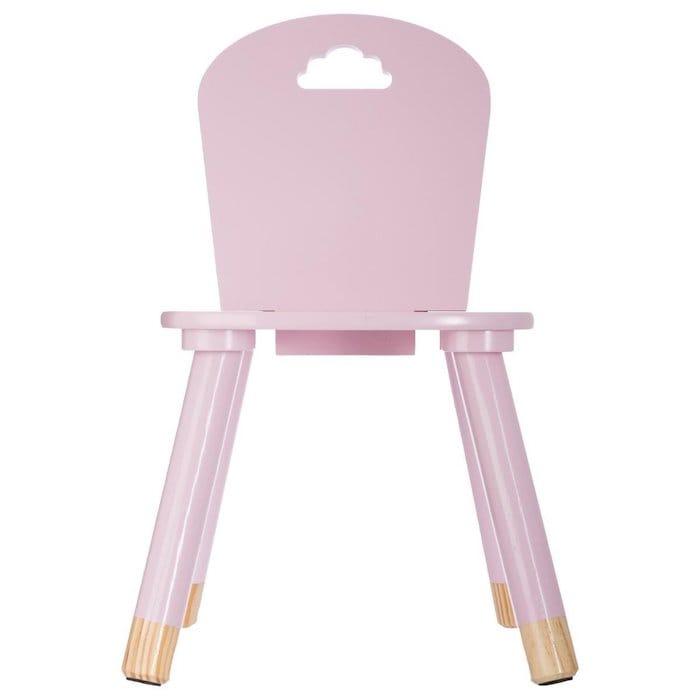 chaises rose en bois