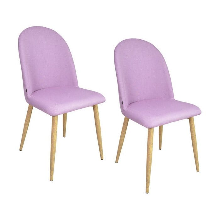 chaises rose modernes