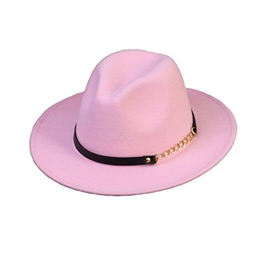 chapeau femme rose retro