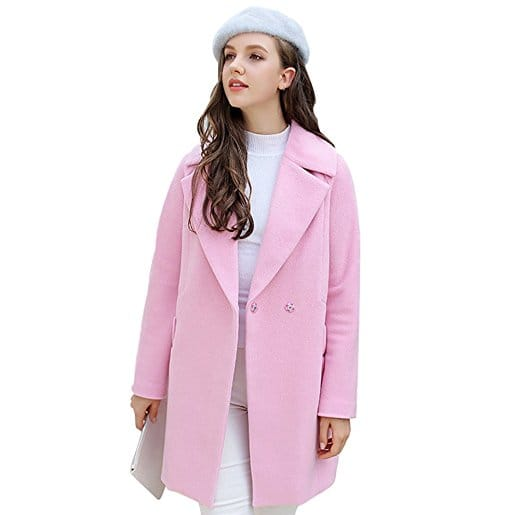 manteau rose elegant