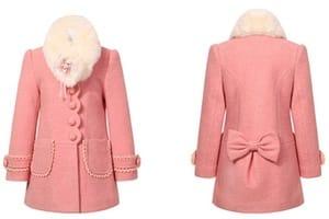 manteau rose fille femme elegant et classe