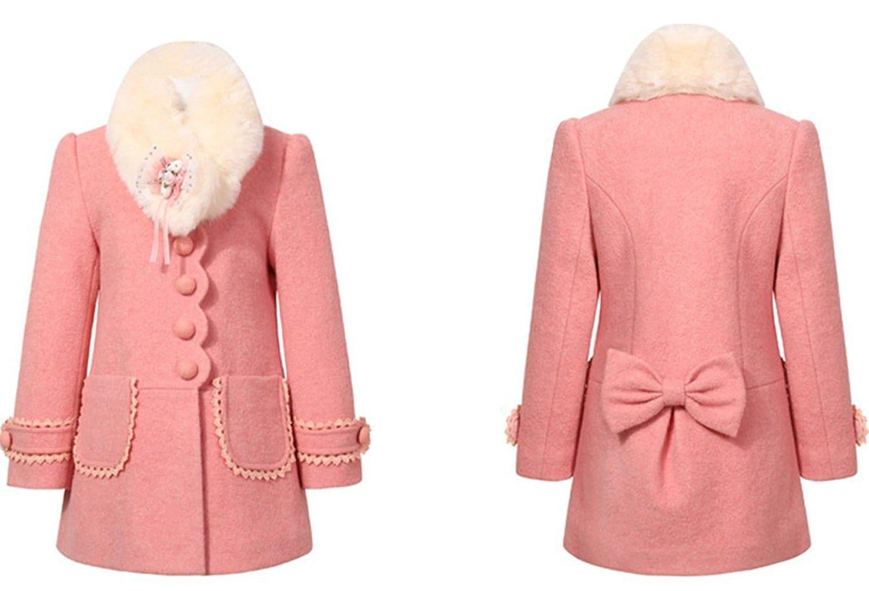 manteau rose fille