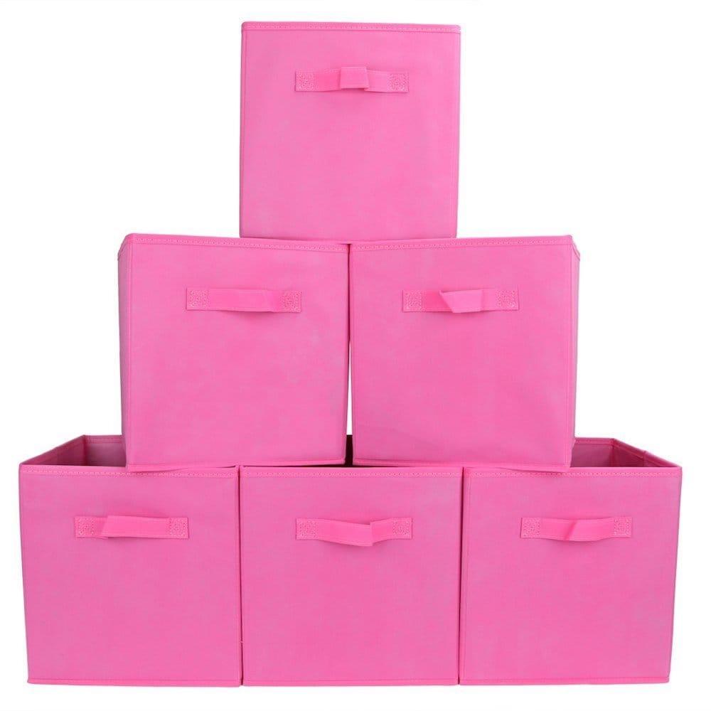 panier rangement boite rose
