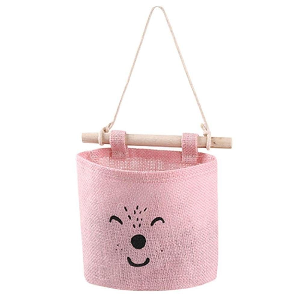 panier rangement sac de rangement rose