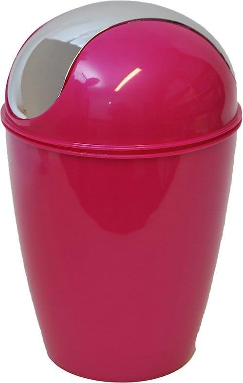 poubelle rose maison
