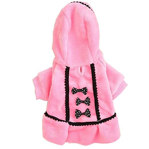 pull chien rose hiver