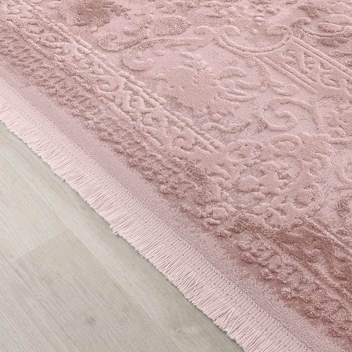 tapis de salon rose acrylique