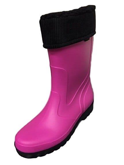 bottes de pluie caoutchouc rose