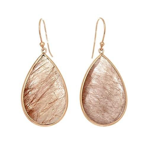 boucles d'oreilles rose en argent