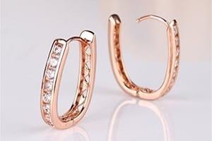 boucles d'oreilles rose pink gold
