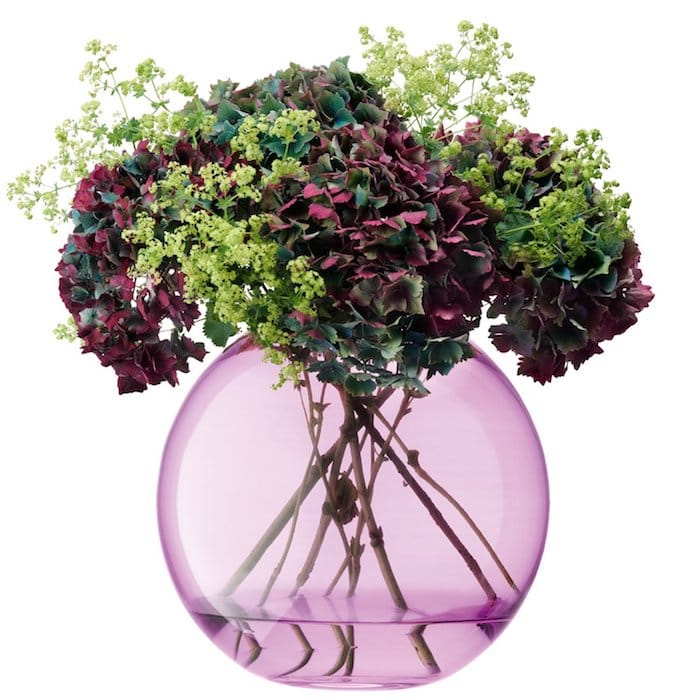 vase rose transparent
