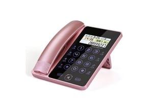 Telephone pour la maison filaire rose