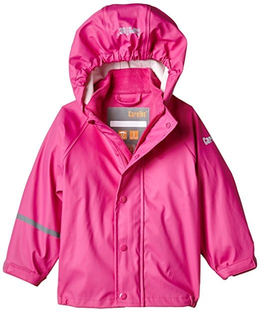 impermeable rose fille