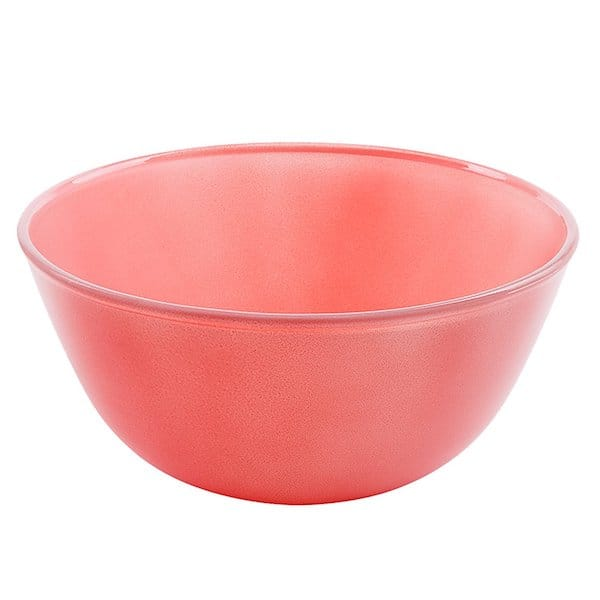 saladier rose en verre