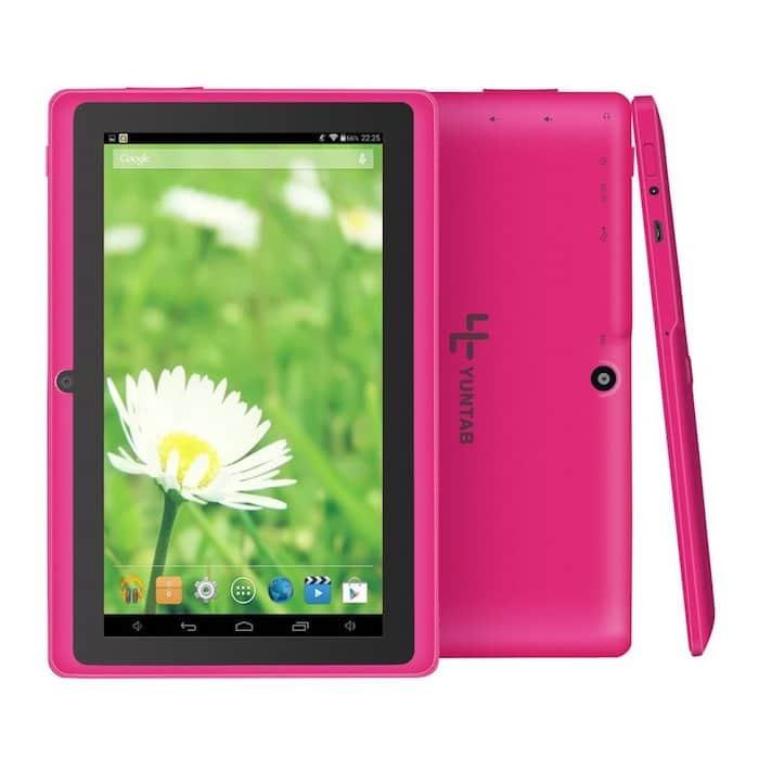 tablette rose tactile enfant
