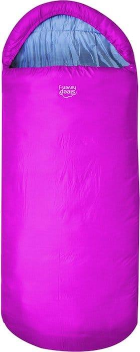 sac de couchage rose enfant