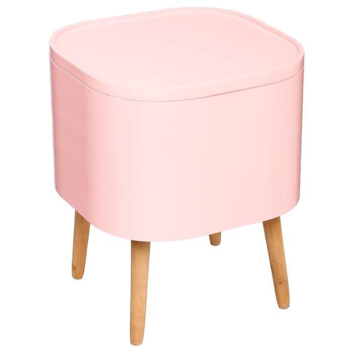 table de chevet rose coffret rangement