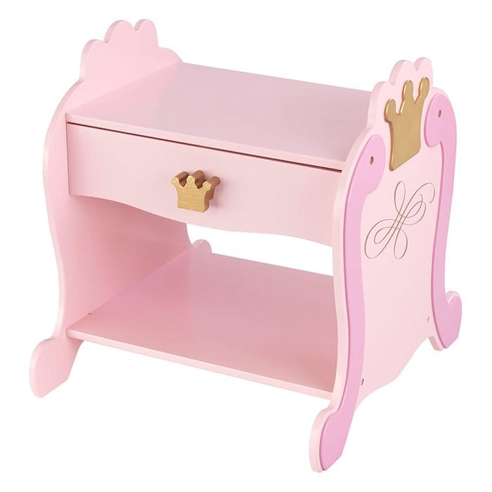 table de chevet rose princesse
